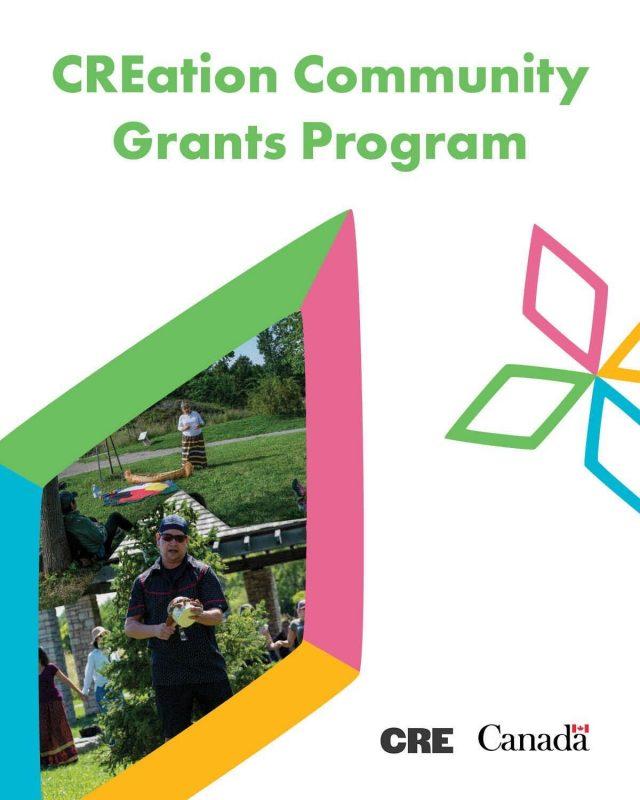 Creation Community grants program ad image.